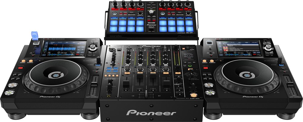 Xdj 1000mk2 djm 850 and ddj sp1 front