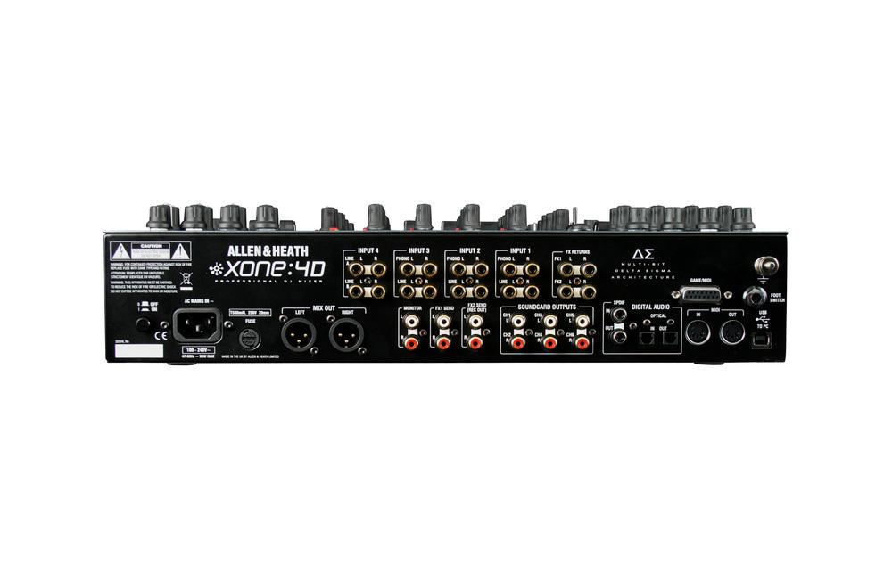 Xone4d rear connectors 28001