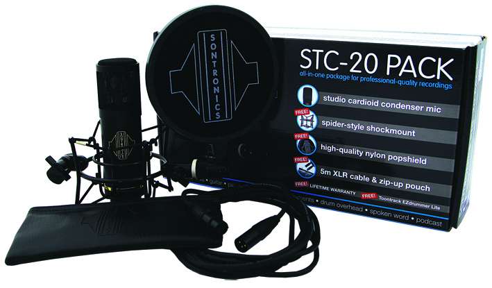 Sontronics stc20pack box mic accessories