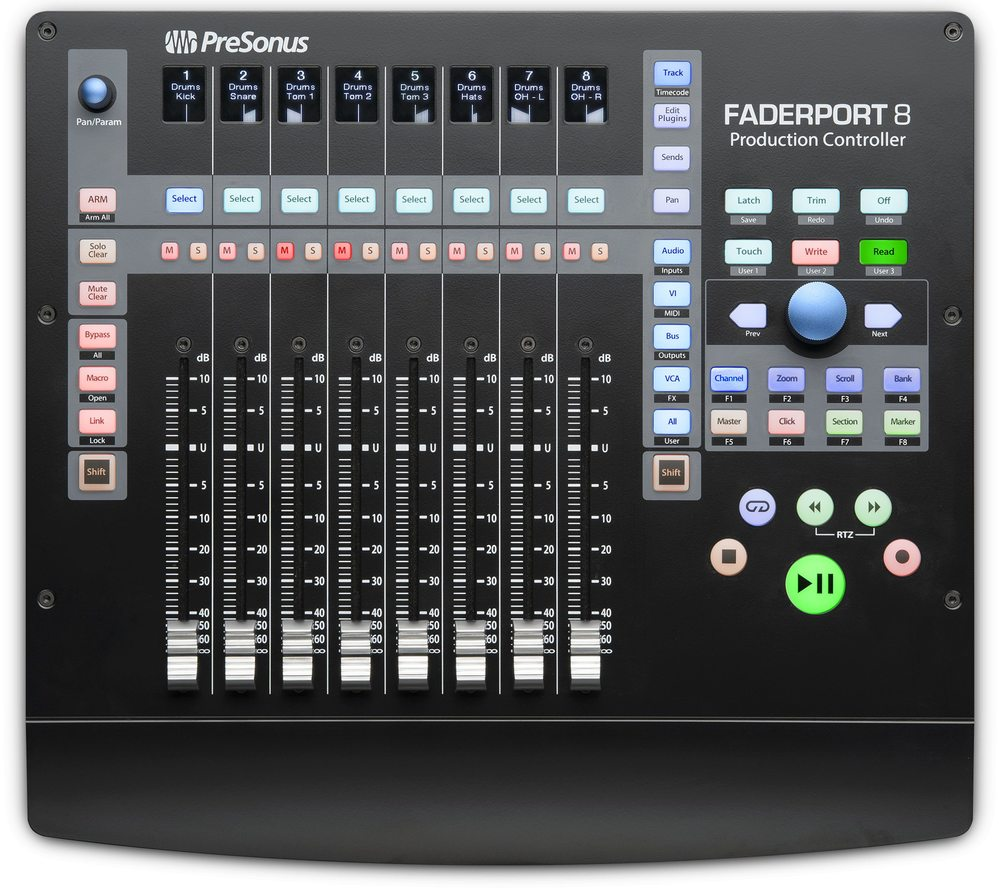 Presonus faderport 8 top02 big