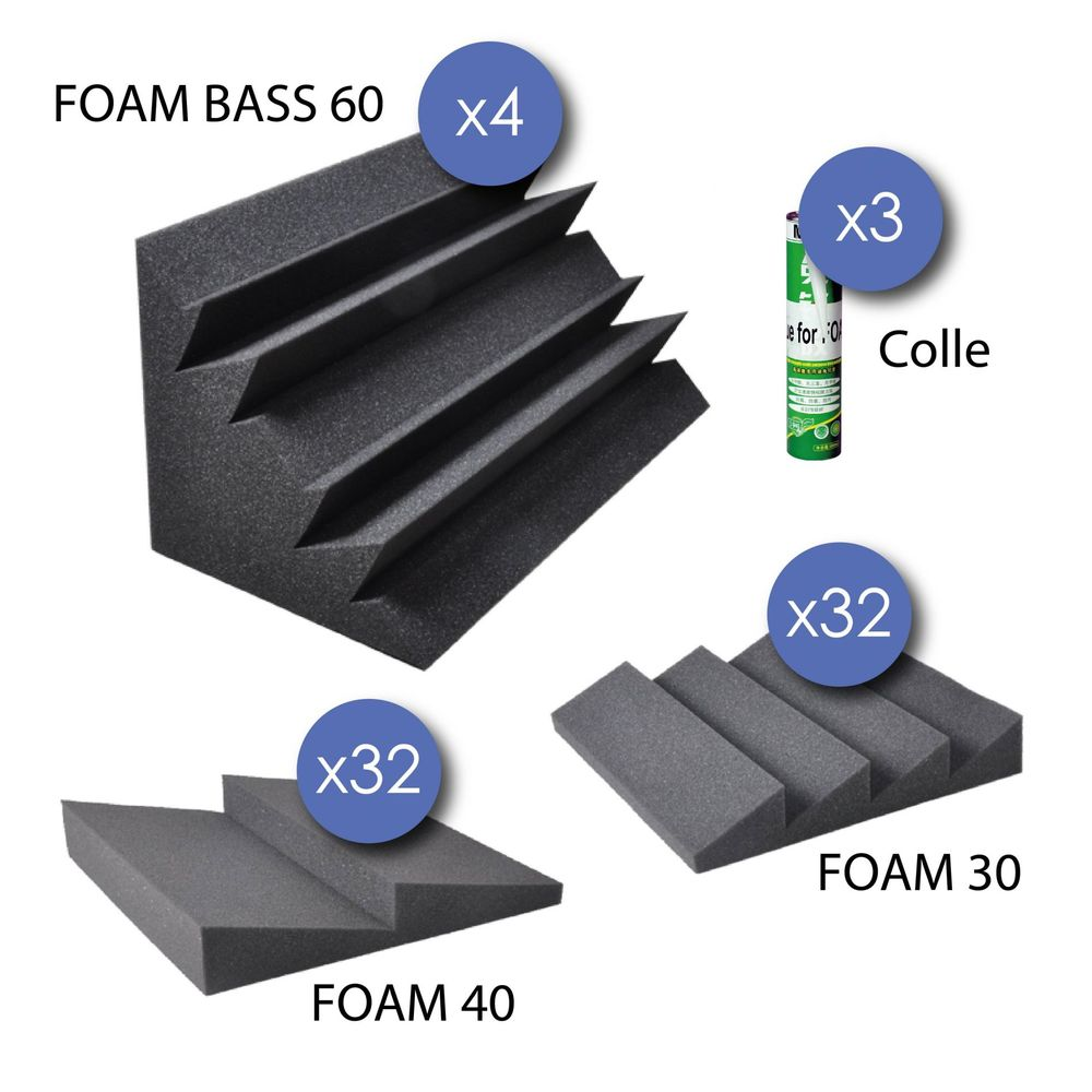 Pack 32 foam 30 32 foam 40 4 foam bass 60 3 colles %282%29