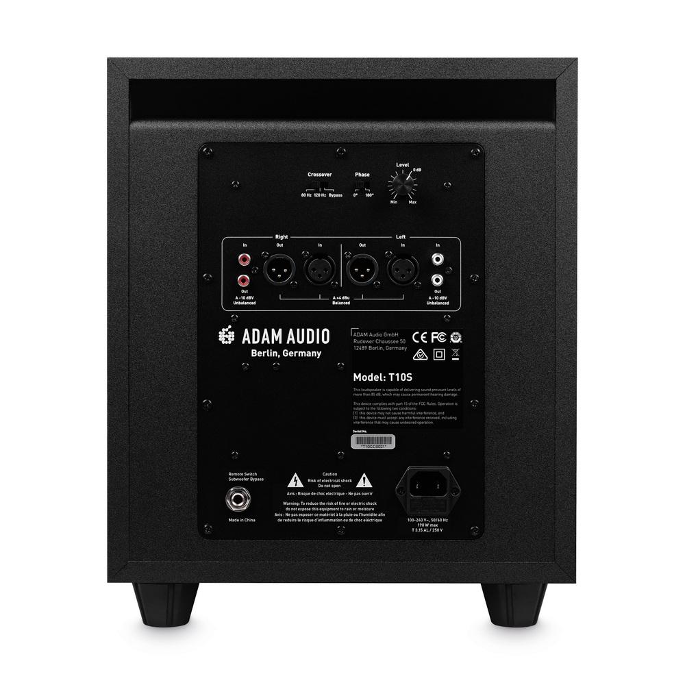 Adam audio t10s subwoofer back web productshot 1