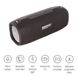 Enceinte nomade bluetooth avec sangle