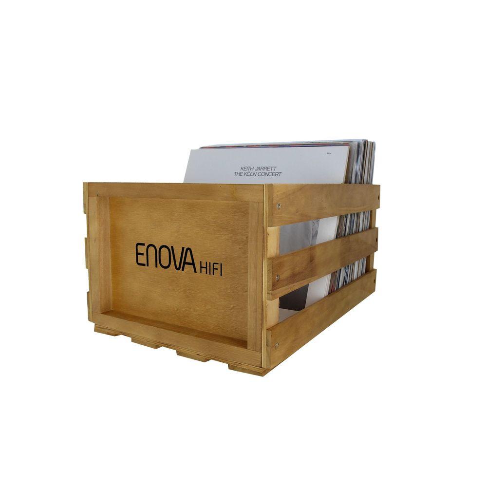 Caisse stockage 120 lp finition bois
